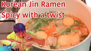 진 라면 OTTOGI Jin Ramen Spicy With a Twist/UPGRADED Korean Style Noodle   Super EASY & YUMMY   Mukbang