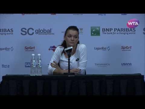 Agnieszka Radwanska 2016 WTA Finals Signapore Press Conference