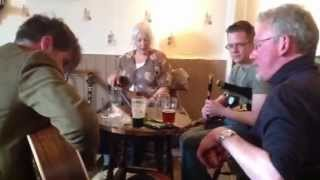 Irish folk jam in Clitheroe, UK