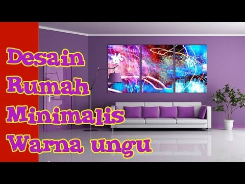 Perpaduan Warna Cat Rumah Ungu Minimalis Interior Exterior Youtube