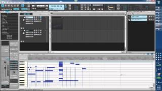 Cakewalk Sonar X3. Les. 22. Editing Midi. Piano roll