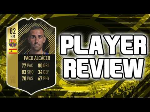 Fifa 18 If 82 Paco Alcacer Player Review Fifa 18 Ultimate