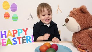 Coloring Easter Eggs with Leo and Mommy. Color Song for KIDS Video