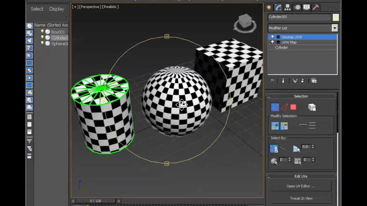 3ds Max UV Checker Map Part 4 - YouTube Checker Map on