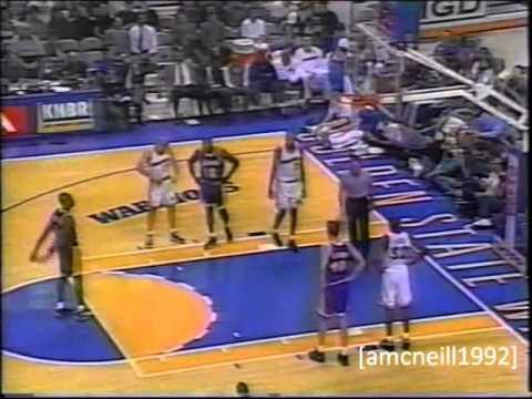 Kobe (24 pts rookie high) vs Warriors 96/97 season