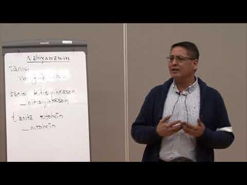 """""""mâmawi-nêhiyawêmototân: Let's Learn To Speak CREE Together"""" With Darren Okemaysim CLASS 01"""