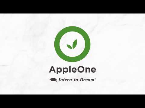 AppleOne Intern To Dream Program