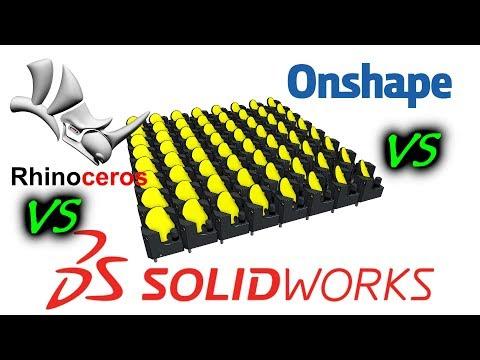 MCAD Shootout! - Rhino vs Solidworks vs OnShape