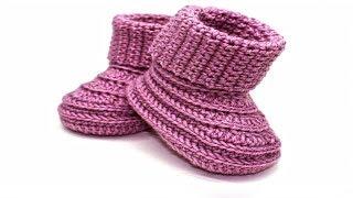 Video How to crochet baby booties//Vasilisa download MP3, 3GP, MP4, WEBM, AVI, FLV November 2017