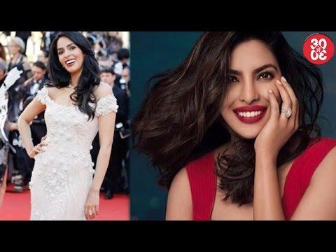 Mallika Walks The Red Carpet At Cannes   Priyanka Chopra Looks Sizzling Hot