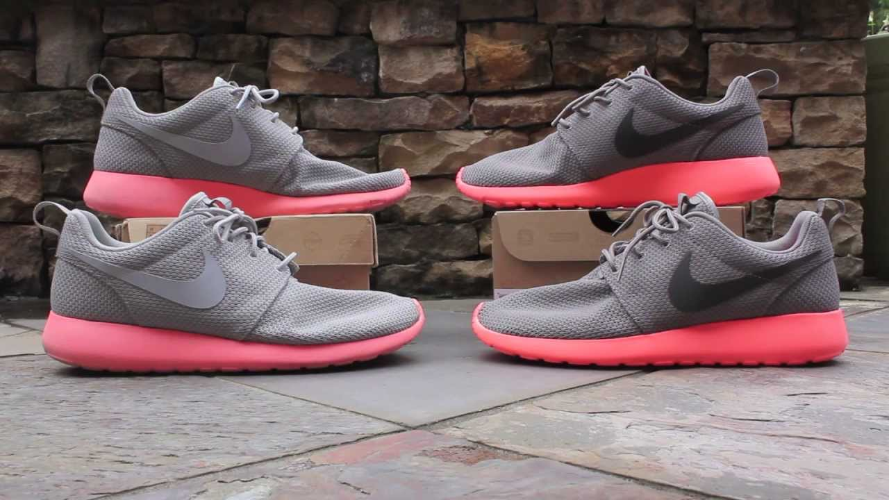 nike roshe run mango grey