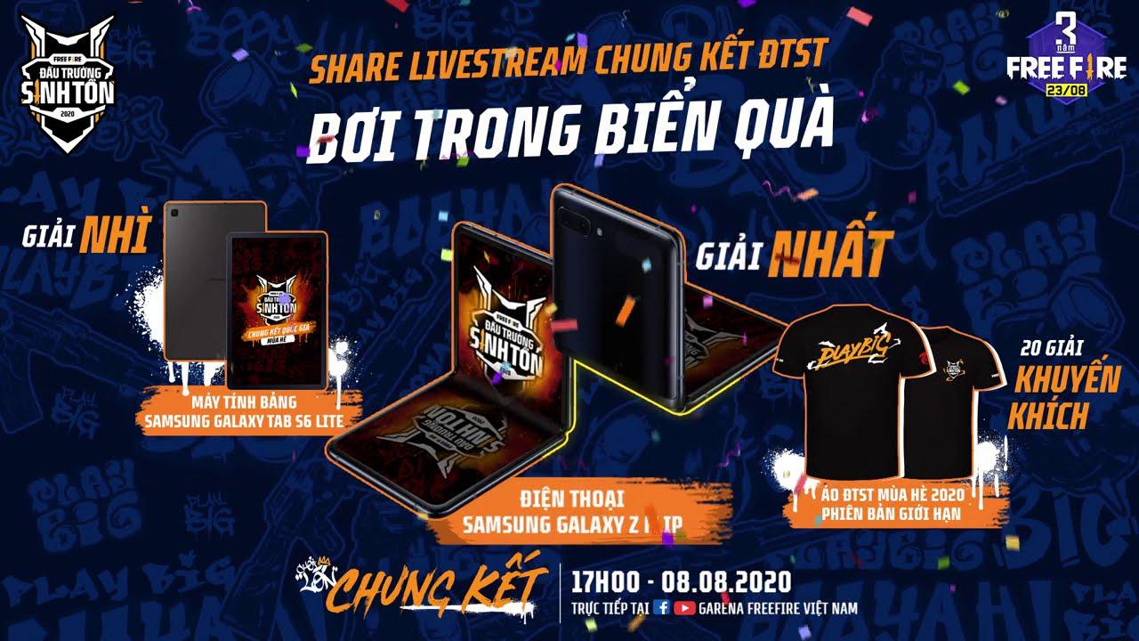 Share livestream NHẬN SAMSUNG GALAXY Z FLIP - GALAXY TAB S6 LITE | CHUNG KẾT ĐTST mùa Hè 2020