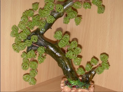 Деревья из бисера