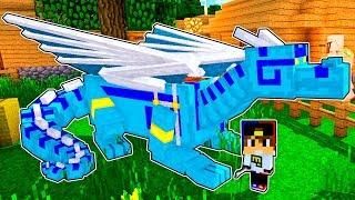 КАК ЛЕТАТЬ НА ДРАКОНЕ? Опасные приключения Майнкрафт выживание деревня моды видео мультик для детей