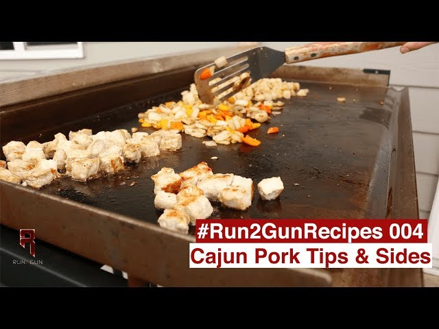 #Run2GunRecipe 004 || Cajun Pork Tips W/Spiced Sides
