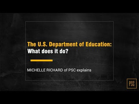The U.S. Department of Education: What does it do?