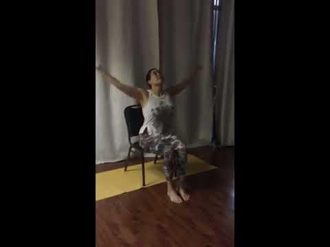chair yoga modified flow sun salutation by stacie www