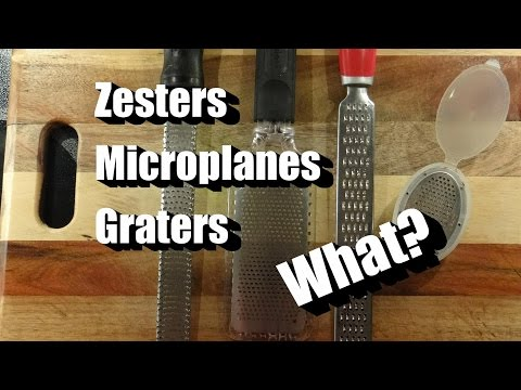 Zesters, Graters, Microplanes, Where to Begin? Here a Few Examples from my Kitchen