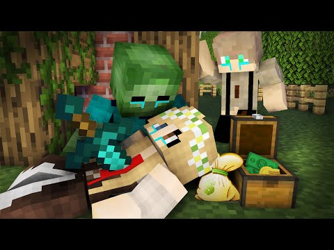 Zombie Life 24 : Secret Zombie Vs  Pretty Beggar - Minecraft Sad Animation
