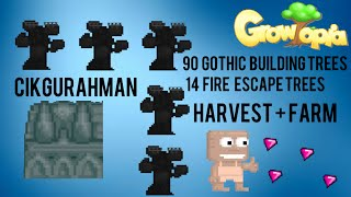 Growtopia | Farming Tips #1 [Gothic Buildings and Fire Escapes]