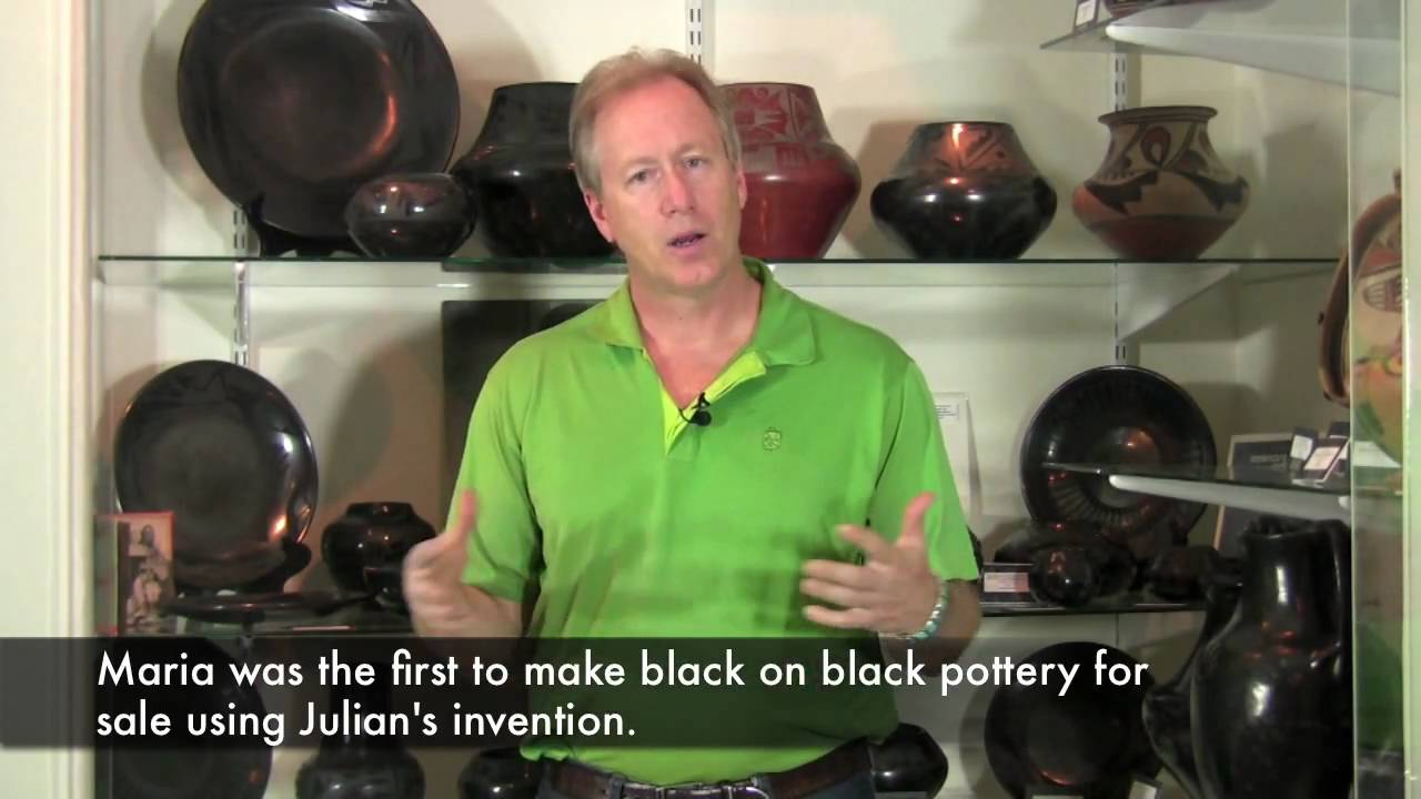 maria martinez and her pueblo pottery essay Puebloan: maria martinez, black-on-black ceramic vessel maria martinez shown with the design was based on pottery sherds found on an ancestral pueblo dig site.