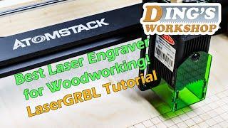 Atomstack A5 Laser Engraver Review & LaserGRBL Tutorial   Banggood Woodworking Tools