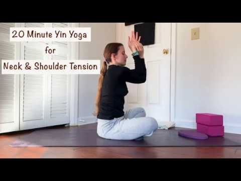 20 minute yin yoga sequence for shoulder and neck tension