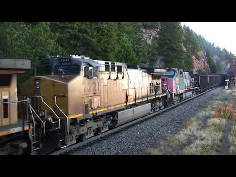 Loaded Union Pacific coal train drifts into tunnel 7 on the Moffat Route