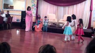 Anjali, Aneesha, Dhil and Briya performing at Sandya