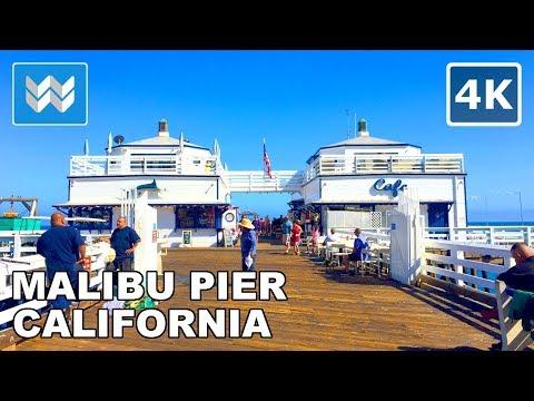 Walking from Surfrider Beach to Malibu Pier in Malibu, California USA | Travel Guide 🎧 【4K】