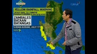 UB: Weather update as of 5:52 a.m. (July 17, 2018)
