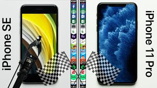 iPhone SE vs. iPhone 11 Pro Max Speed Test