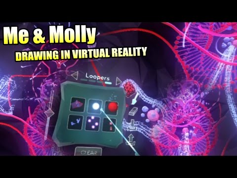 Me and Molly Drawing in Virtual Reality