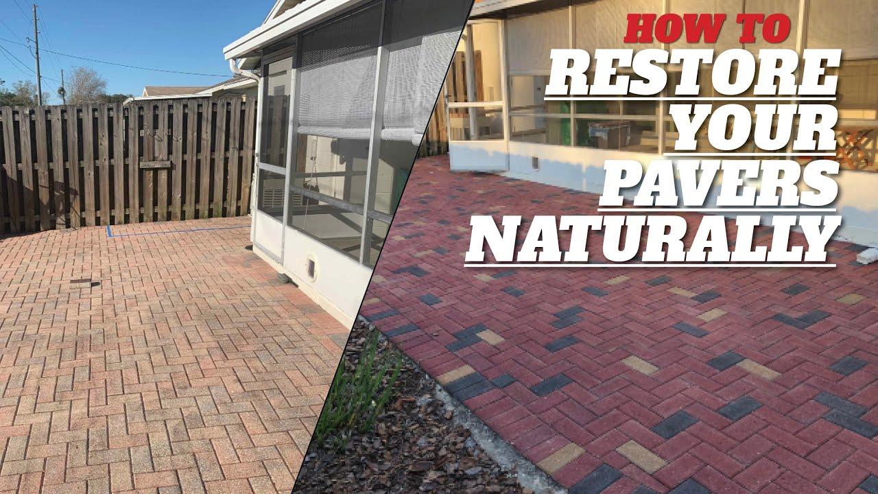 Concrete Paver Staining (Restore Paver Color System)