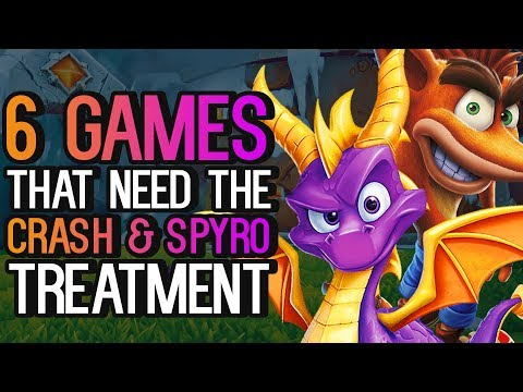 6 Games/Series That Need The Crash and Spyro Treatment