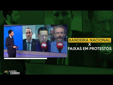 BANDEIRA NACIONAL X FAIXAS EM PROTESTOS