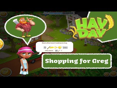 Hay Day - Shopping For Greg - Helpers, Chat & Play, Mystery Chests