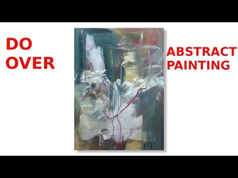 Abstract Acrylic Painting Techniques - Do Over