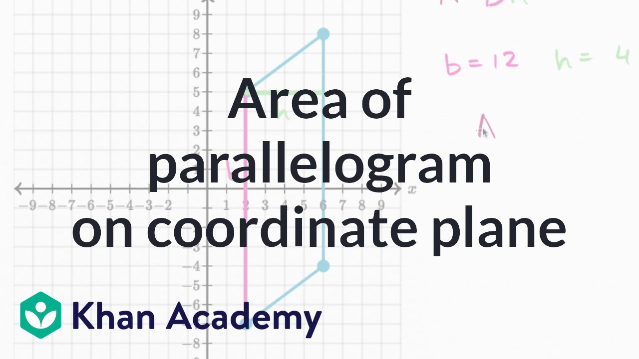 medium resolution of Area of a parallelogram on the coordinate plane (video)   Khan Academy