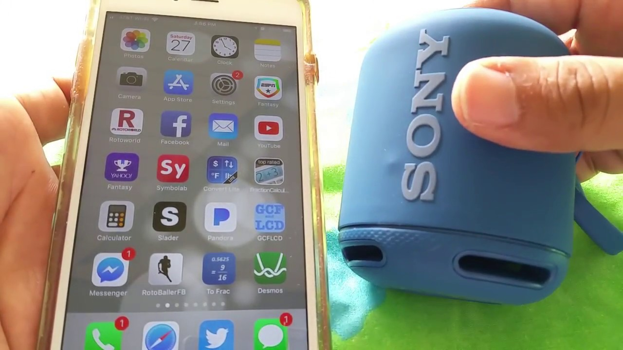 How to pair Sony SRS-XB10 bluetooth Speaker to Iphone 6 plus