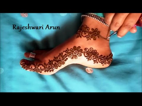 Easy Mehindi Designs For Foot Step By Step Tutorials For Beginners