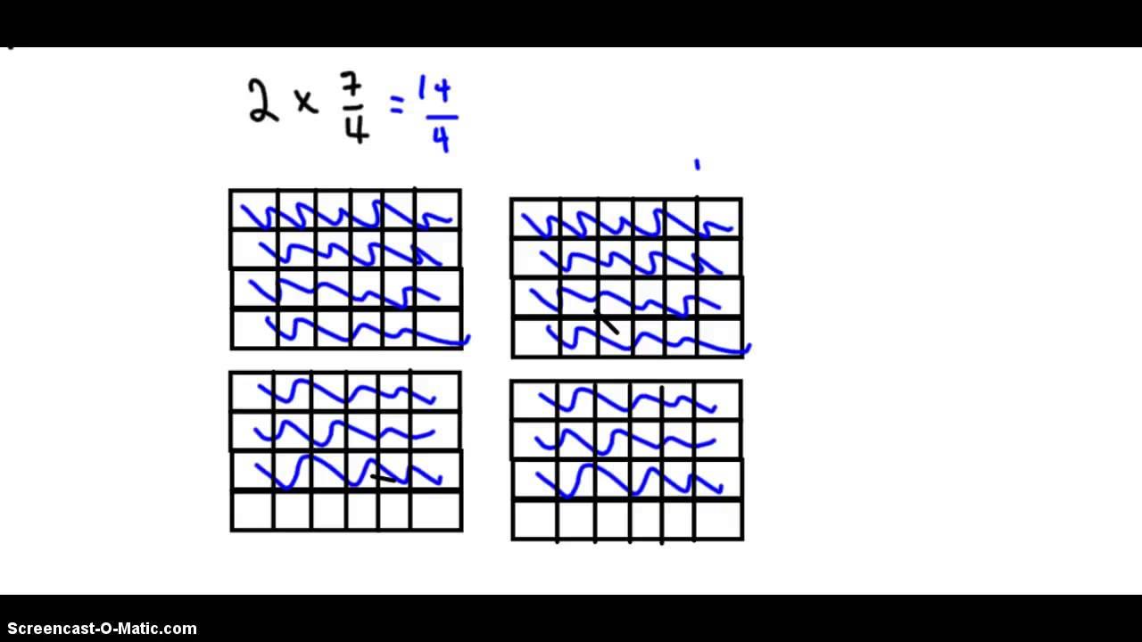 Multiplying Improper Fractions - YouTube