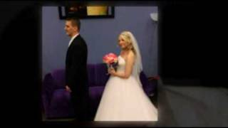 Groom Sees Bride with First Look on Wedding Day