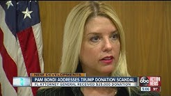 Pam Bondi addresses Trump donation scandal