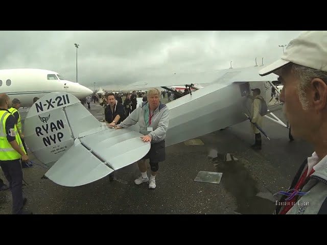 Spirit of St Louis (replica) - DAMAGED! - Trip to Le Bourget