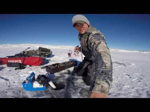 First Ice Seminoe Reservoir, Wyoming