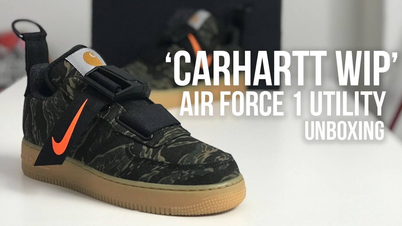 THE BEST COLLAB OF 2018? Carhartt WIP x Nike Air Force 1 Utility Low Sneaker Unboxing