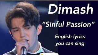 "Dimash  New English lyrics you can sing to ""Sinful Passion"" by Dimash"