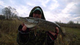 Рыбалка на воблеры глубокой осенью Щука становиться пассивной но я свою рыбу поймал