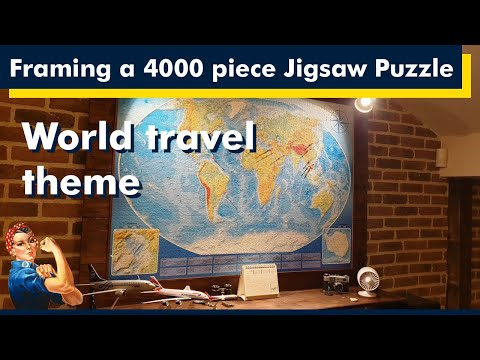 How to frame a 4000 piece Jigsaw Puzzle, DIY project